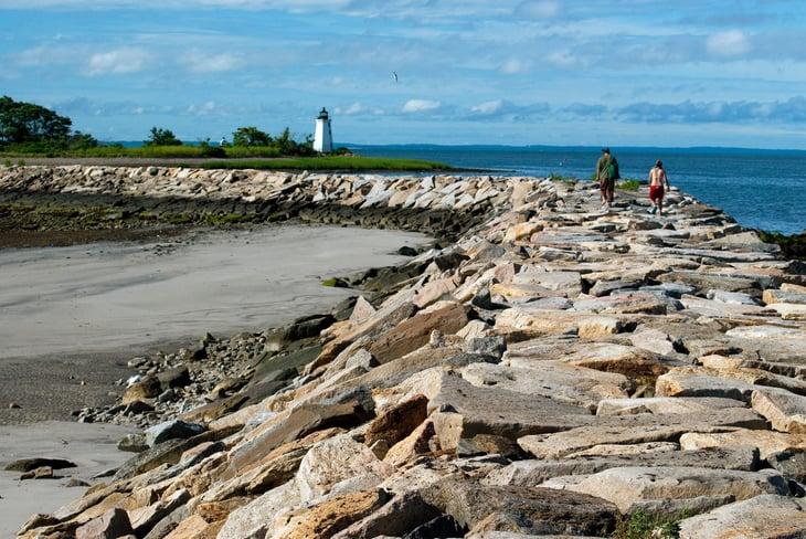 Black Rock Harbor in Bridgeport, Connecticut