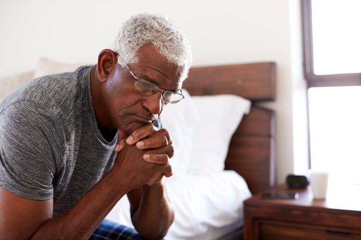 Senior planning his retirement