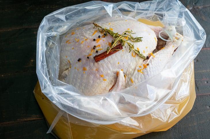 Turkey brining in a bag