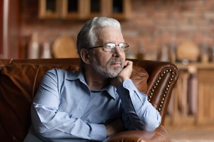 Concerned senior retiree
