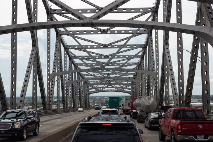 Cars on Mississippi Bridge