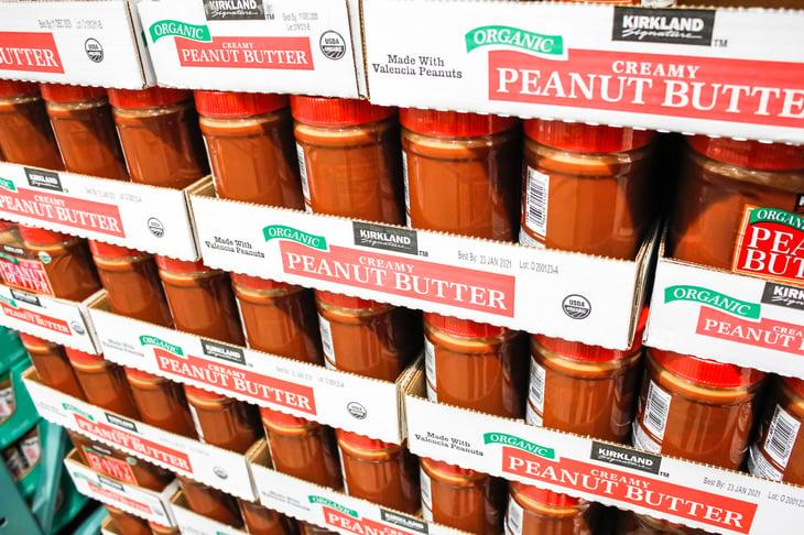 Costco's Kirkland Signature organic peanut butter