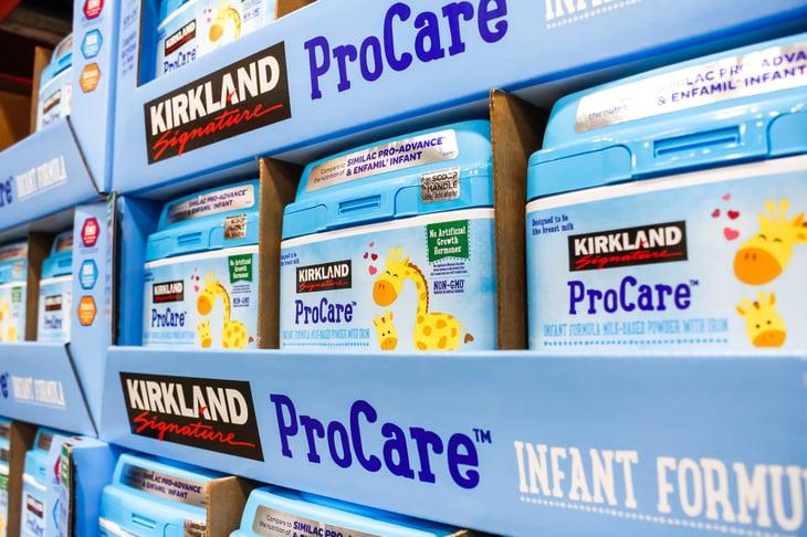 Costco Kirkland Signature infant formula