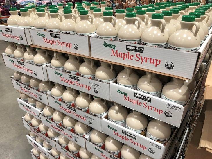 Costco's Kirkland Signature organic maple syrup