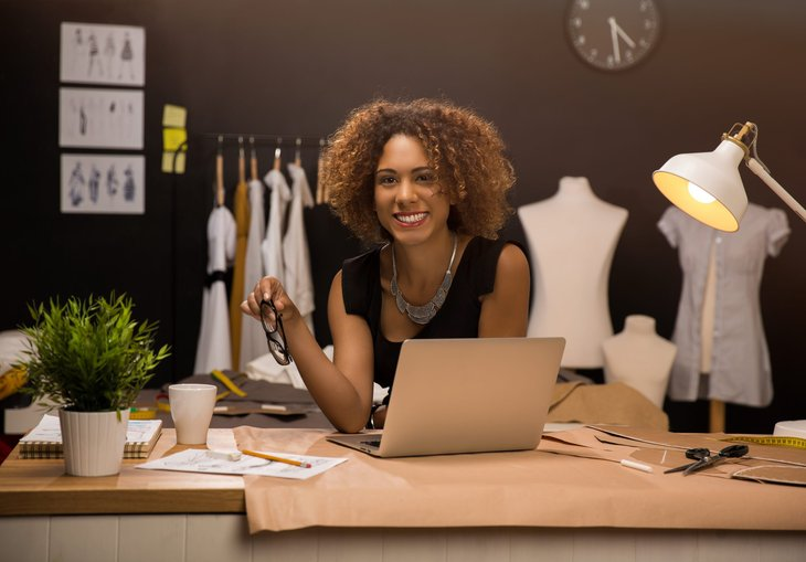 woman entrepreneur business seamstress