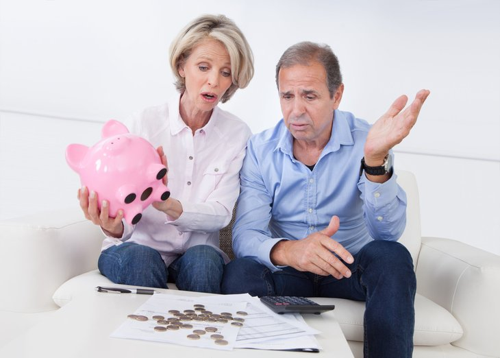 Couple retirement unhappy money