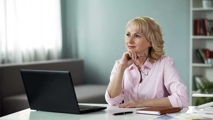 woman thinking planning