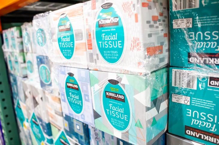 Costco's Kirkland Signature facial tissue