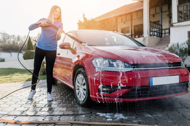 Car wash in driveway