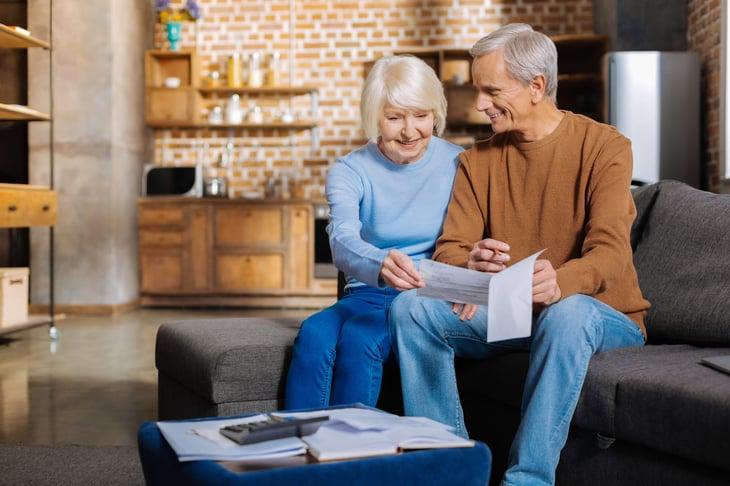 Seniors receiving Social Security payment