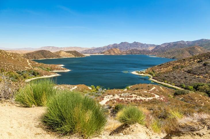 The Pacific Crest Trail near Silverwood Lake in San Bernardino County, California
