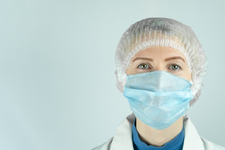 Doctor, nurse or embalming woman