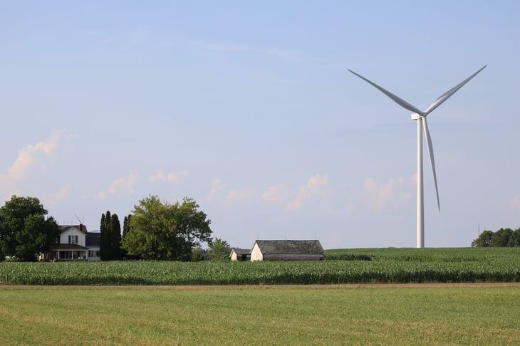 Michigan wind turbine farm