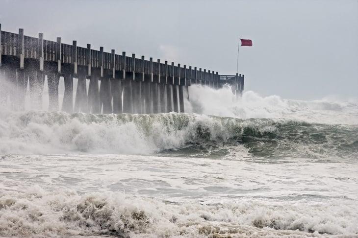 Hurricane Ike causing flooding in Florida