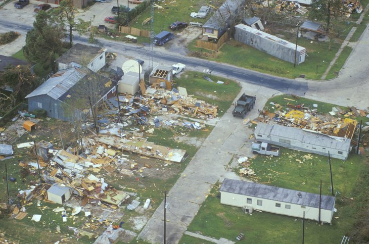Homes destroyed by Hurricane Andrew