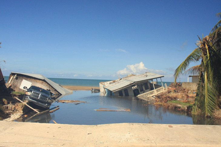 Hurricane Maria damage in Puerto Rico