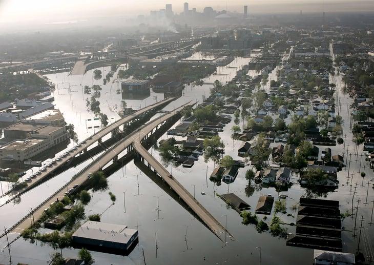 Hurricane Katrina flooding damage