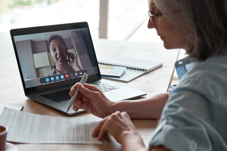 Remote worker video conference