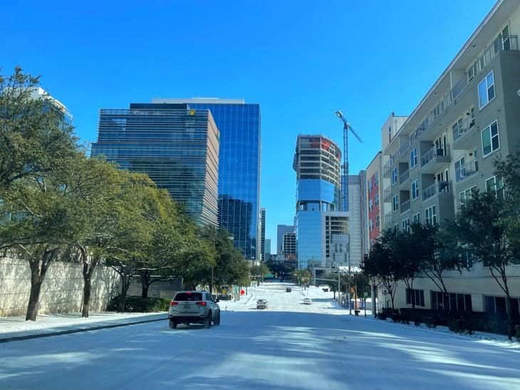 Record cold grips Dallas in February 2021.