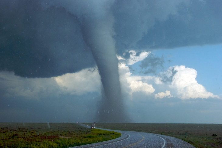 Tornadoes are an example of extreme weather