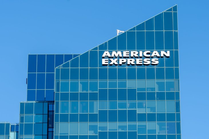 American Express Sign on Building