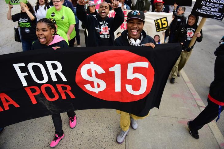 Workers demand $15 minimum wage