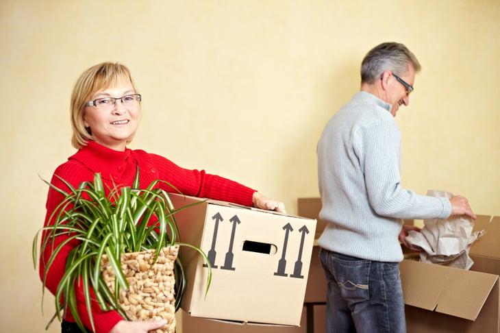 Seniors moving house