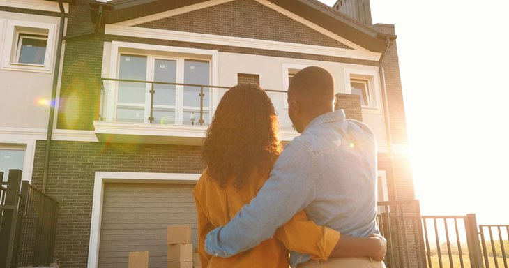 Couple buying new home