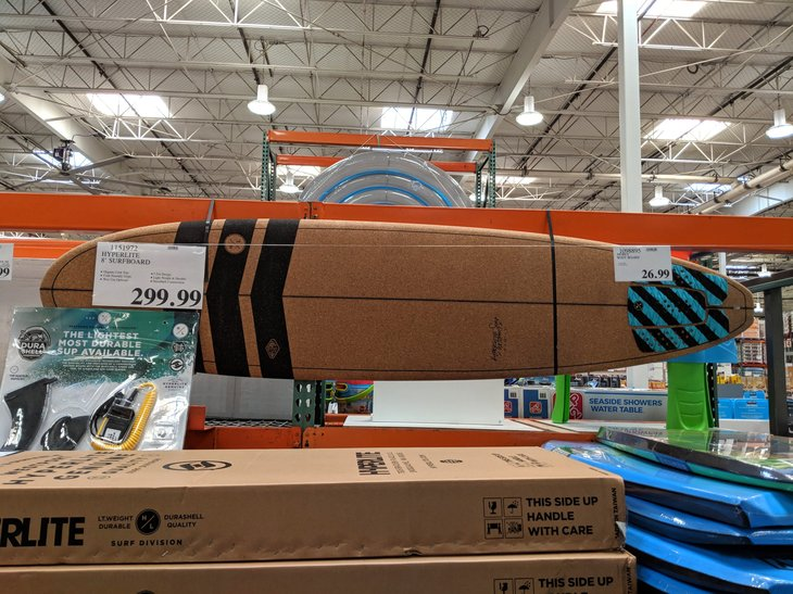 Surfboard at Costco