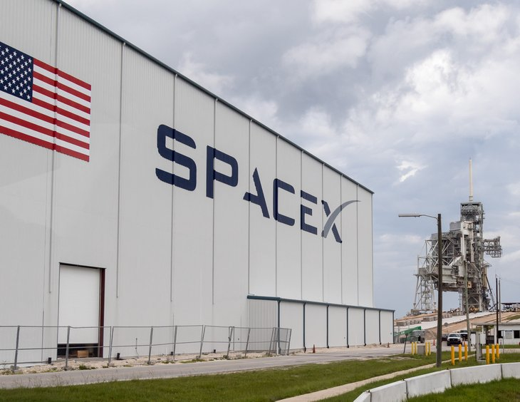 SpaceX building in Cape Canaveral, Florida