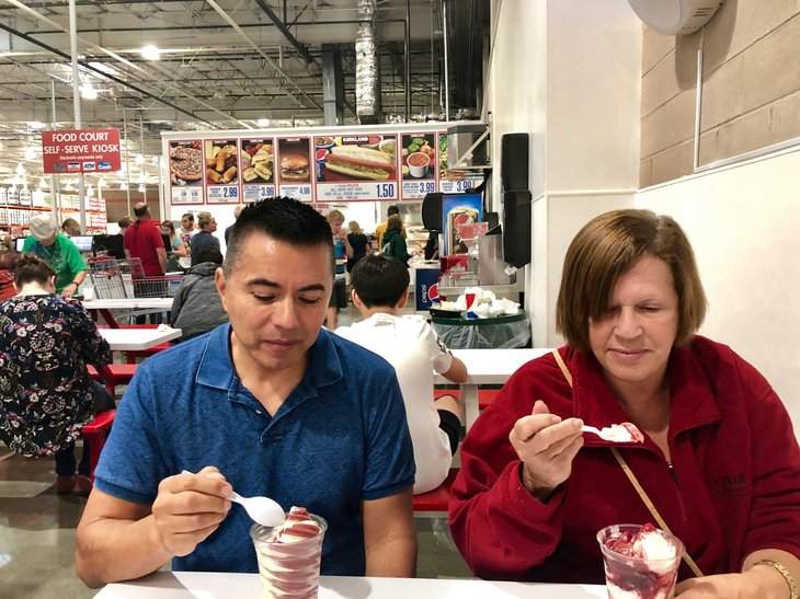Costco food court customers