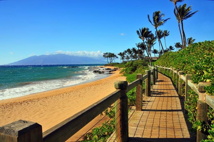 Wailea Beach on Maui, Hawaii