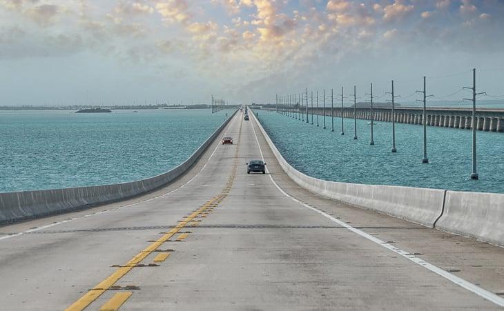 Highway in Florida Keys