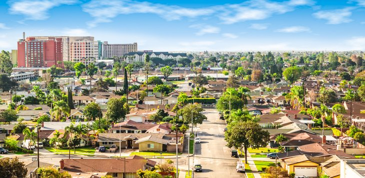 Anaheim California neighborhood