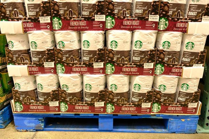 Starbucks coffee at Costco