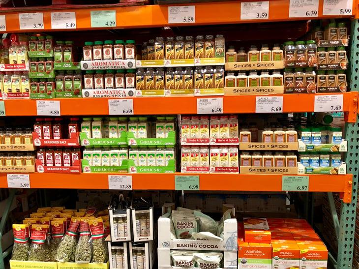 Spices at Costco