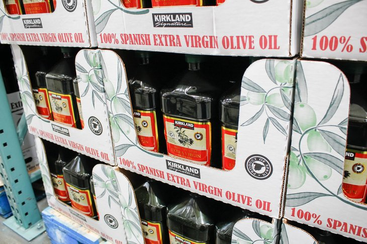 Extra virgin olive oil at Costco