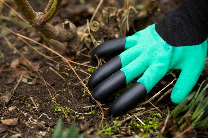 Garden gloves with claws for digging