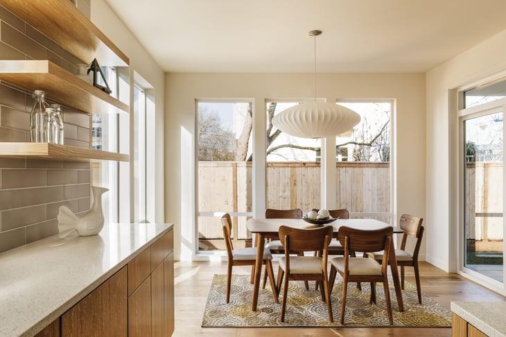 Kitchen with retro furniture