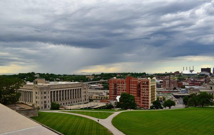 stormy weather in Kansas City, Missouri