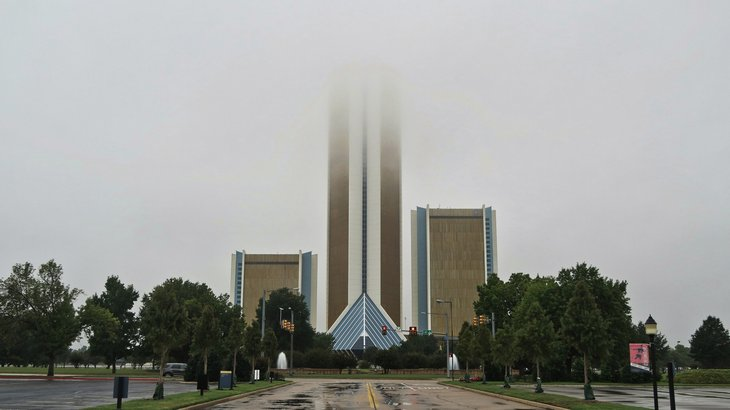 fog and rain in Tulsa, Oklahoma