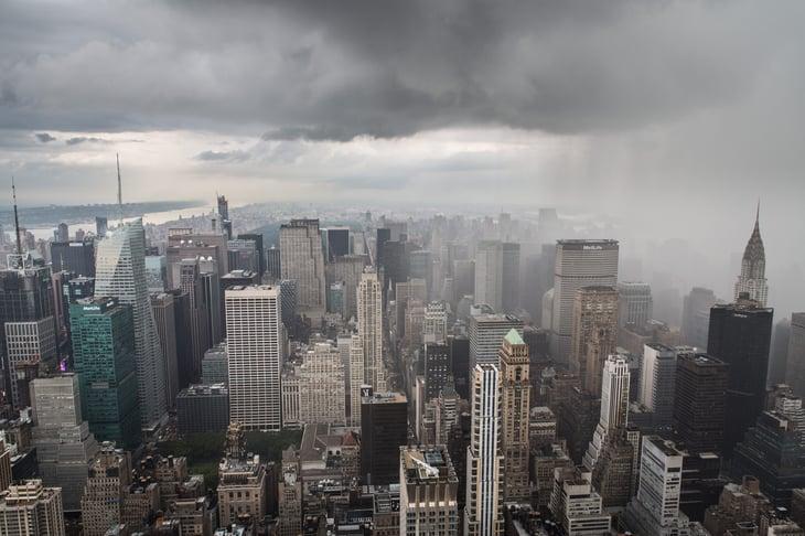 Rain in New York City, New York