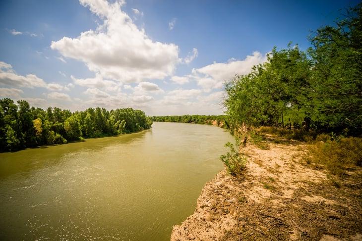 Rio Grande River in McAllen Texas