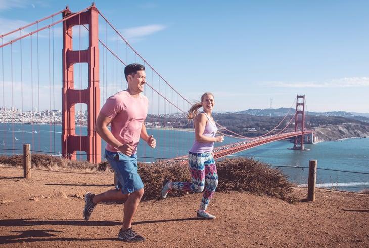 Runners in San Francisco California