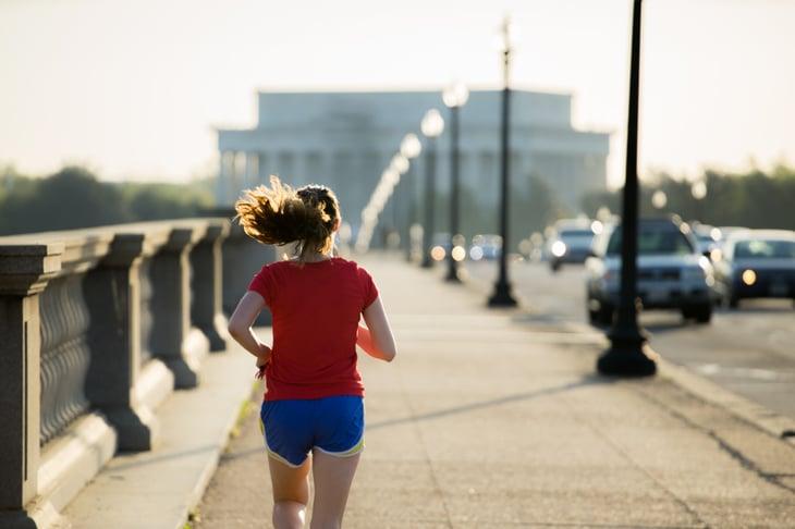 woman runner in Washington D.C.