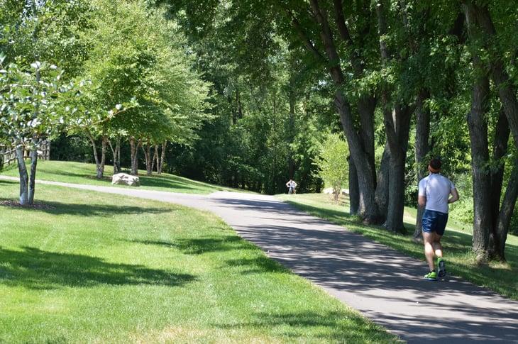 Runner in Saint Paul Minnesota