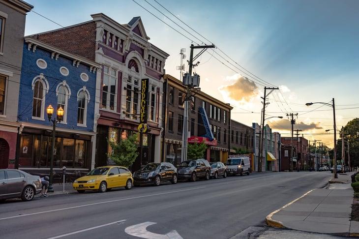 cars on street in Lexington Kentucky