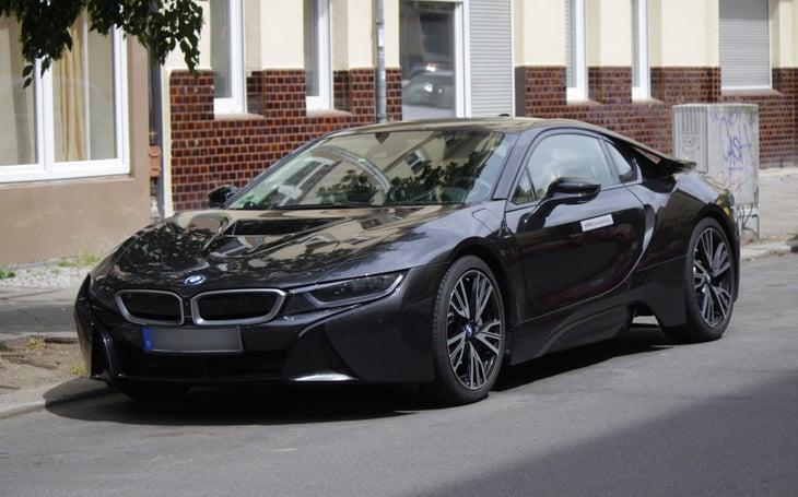 A BMW i8 electric car
