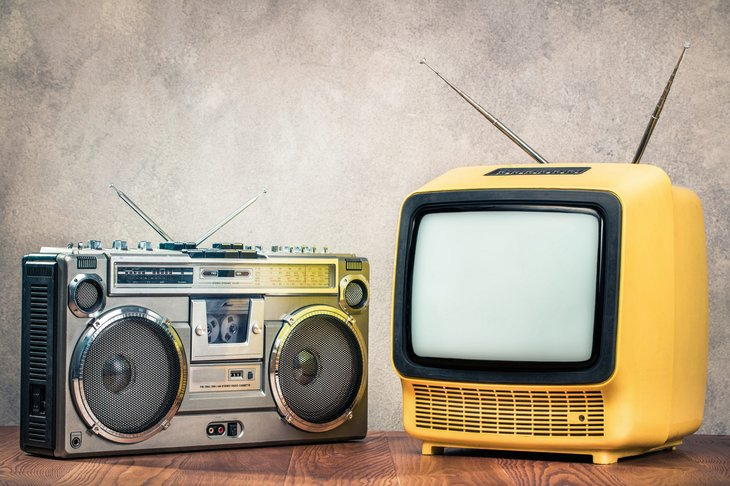cassette recorder TV boombox
