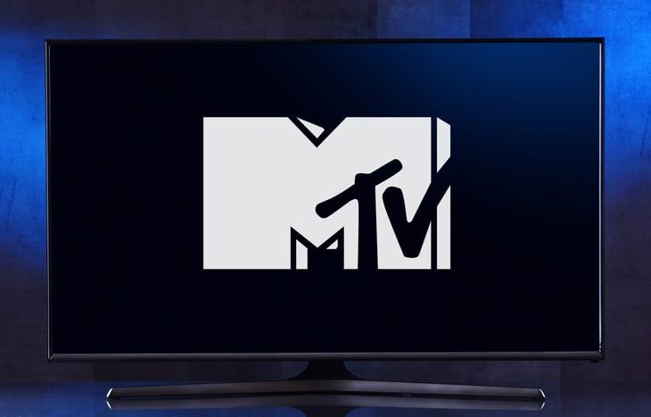 MTV logo on television